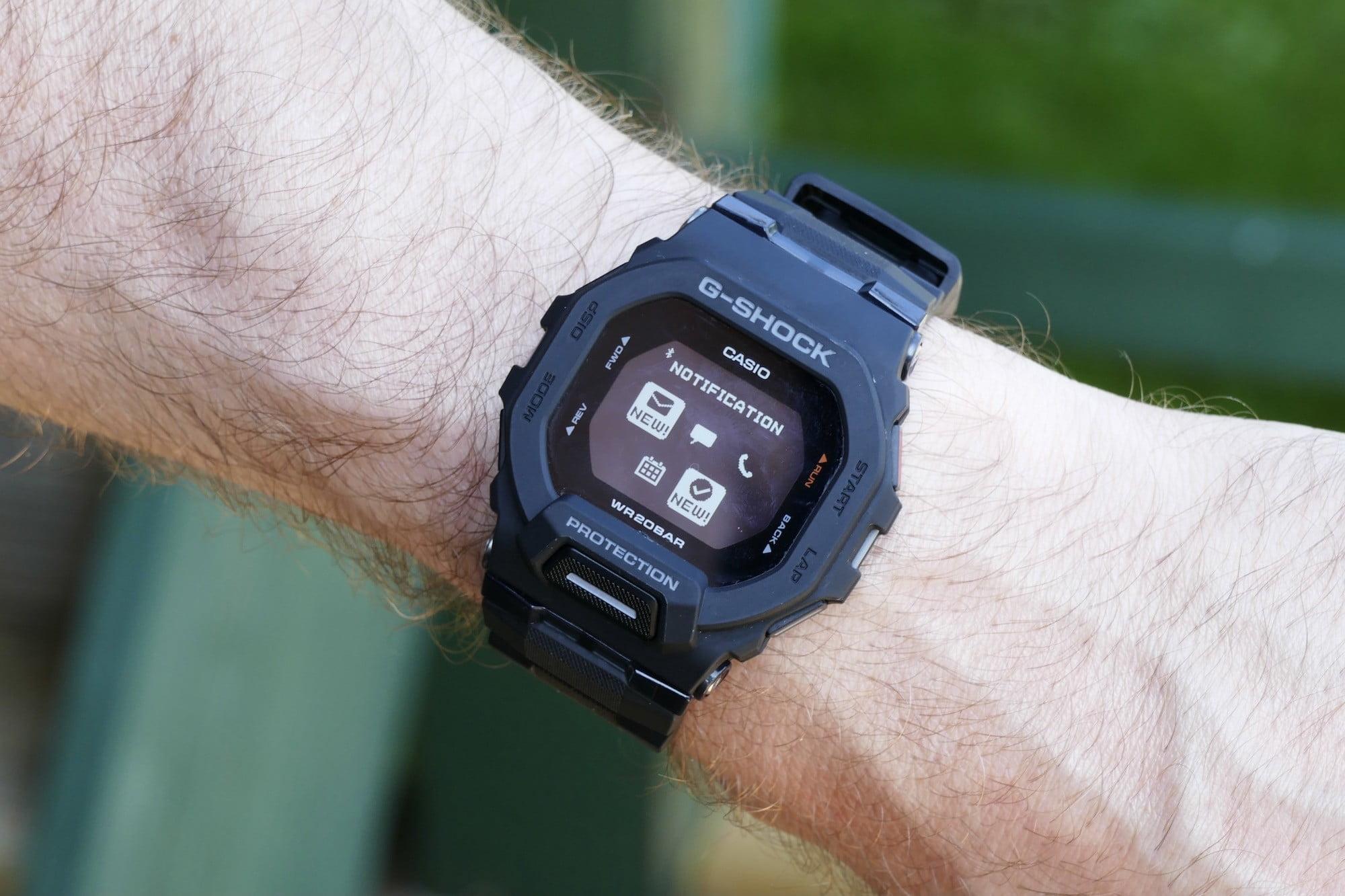Notification screen on the Casio G-Shock GBD-200.