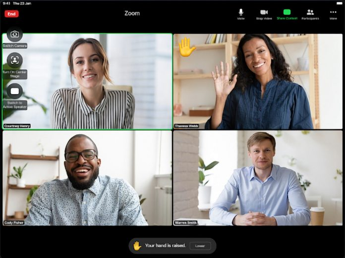Zoom Updated With 'Raise Hand' and 'Thumbs Up' Gesture Recognition on iPad