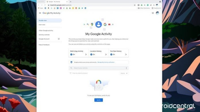 How to protect your Google activity history with a password
