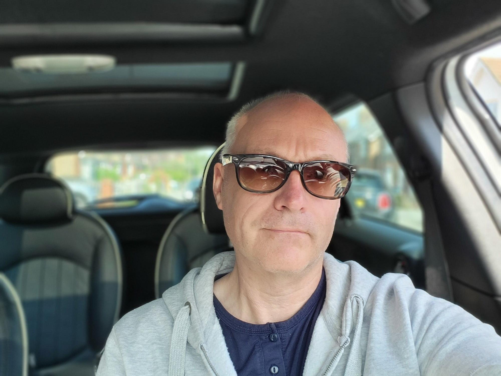 Portrait selfie taken with the Galaxy Z Flip 3.