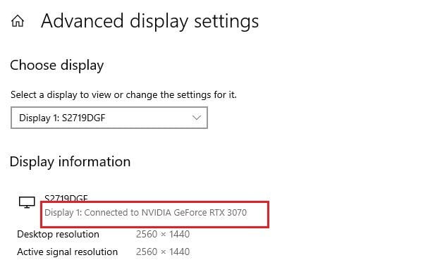 How to fix the 'you are not currently using a display attached to an Nvidia GPU' error