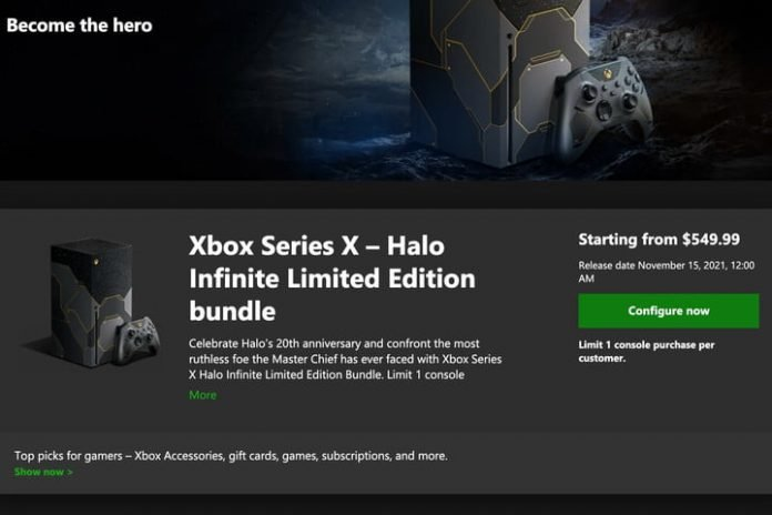 How to pre-order the limited edition Halo Infinite Xbox Series X