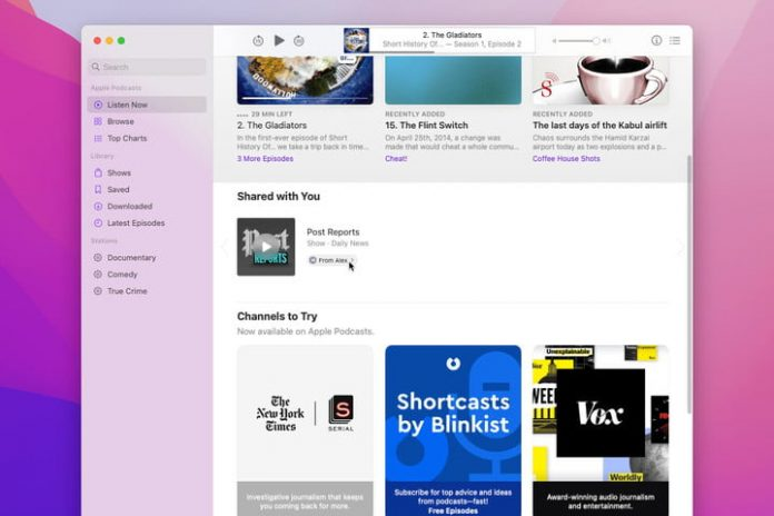 How to use Shared with You on a Mac