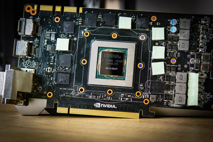 Bare Nvidia GTX 780 Ti GPU.