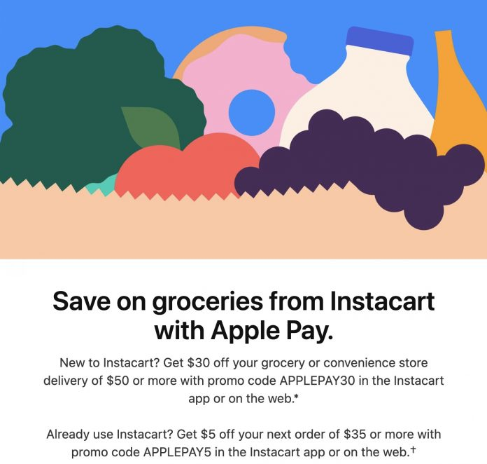 Apple Pay Promo Offers Up to $30 Off Instacart Deliveries for New Users
