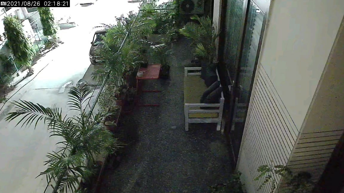 Mi home security cam night time image