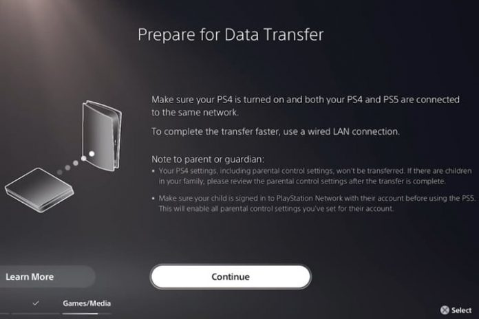 How to transfer data from your PS4 to PS5