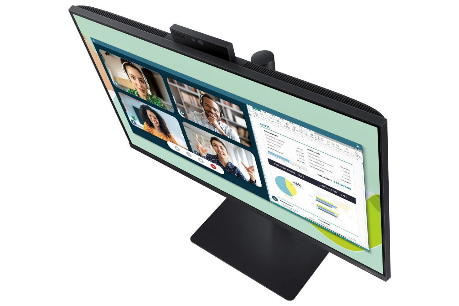 A top view of the Samsung Webcam Monitor.
