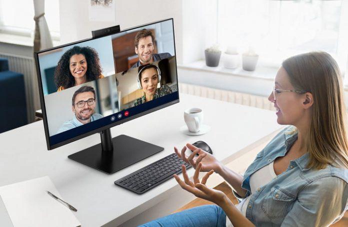 The Samsung Webcam Monitor has a retractable 2-megapixel webcam built-in