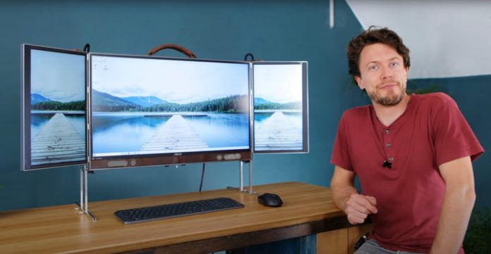 This DIY, triple-monitor PC is a portable all-in-one unlike any you've ever seen