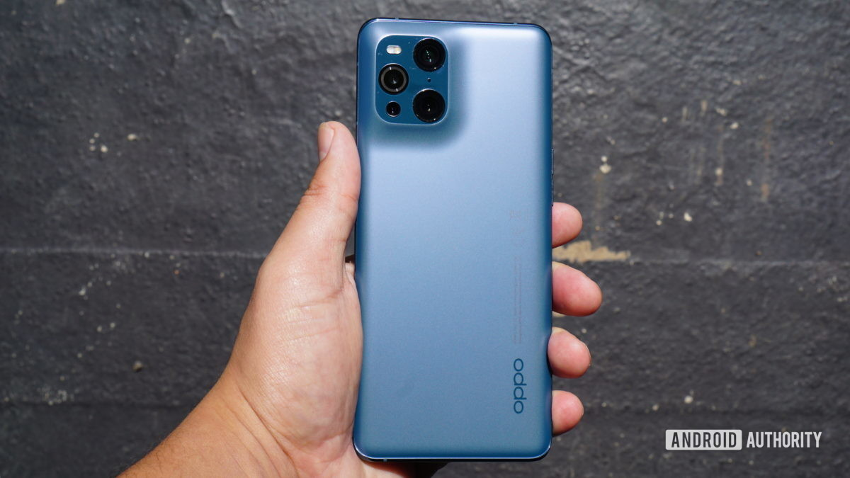 The back of the Oppo Find X3 Pro.