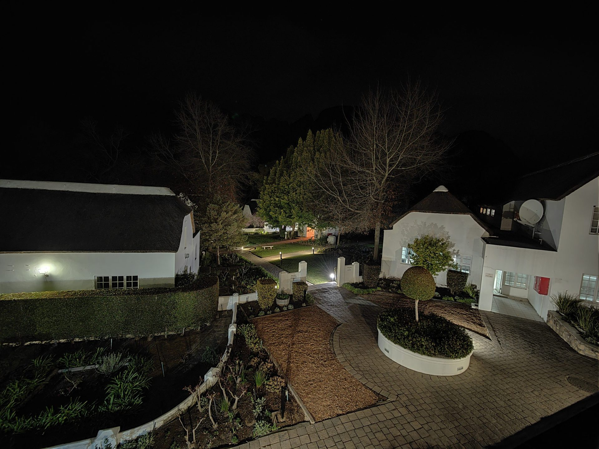 A sample from the ultra-wide camera in low light.