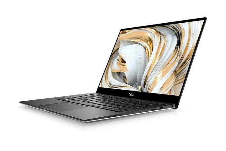The Dell XPS 13 laptop, opened.