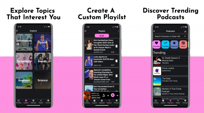 Newsly – Listen to the news you want, when you want it