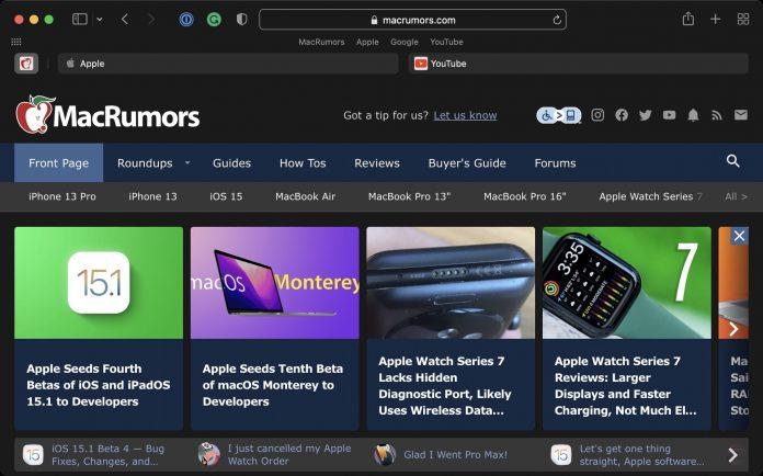 More Safari Tweaks Added in Latest macOS Monterey Beta