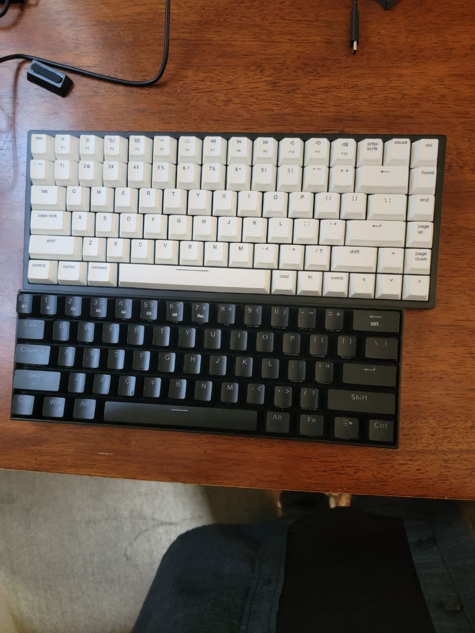 Vissles V84 vs my 60% Redragon keyboard